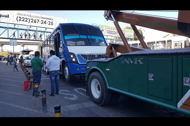 Remite SMT al corralón a 18 unidades del transporte público