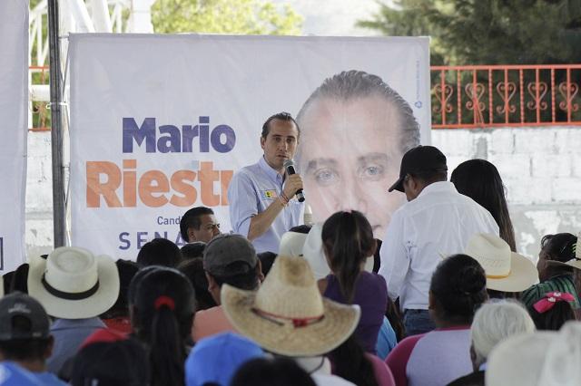 Hacer equipo para lograr la transformación de Puebla: Mario Riestra