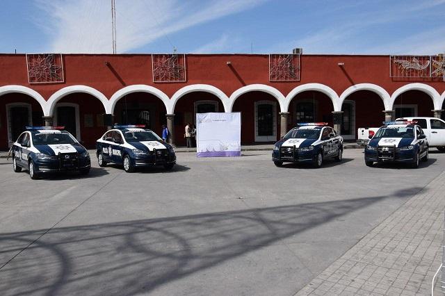 Aumenta parque vehicular para seguridad pública en San Pedro Cholula
