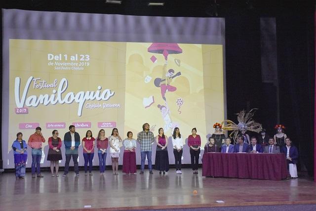 Presentan en San Pedro Cholula el Festival cultural Vaniloquio 2019