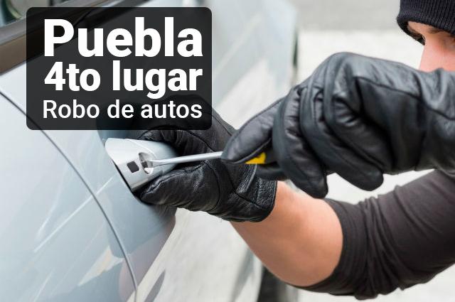 Ubica Presidencia en cuarto sitio a Puebla con más autos robados