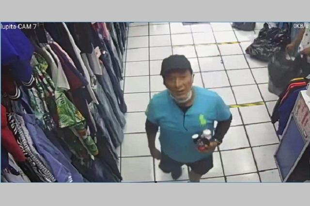 Video capta a hombre robando celular en boutique de Puebla