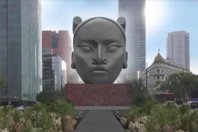 Tlali es la escultura que reemplazará a Colón en CDMX