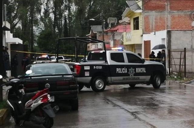 Hallan a esposos muertos; indagan feminicidio y suicidio en Texmelucan