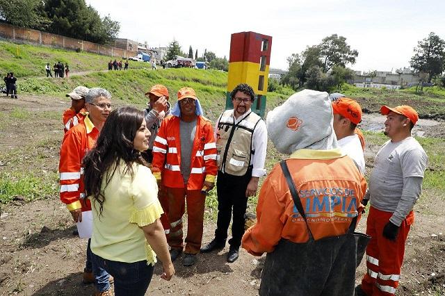 Retiran 24 toneladas de basura de ríos y barrancas de Puebla