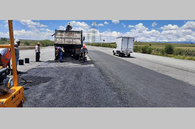 Interviene Infraestructura bulevar Forjadores con bacheo emergente