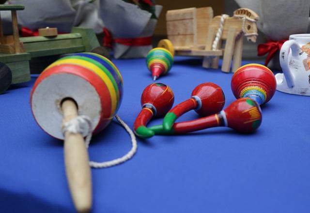 Feria del juguete artesanal en Casa de cultura en Puebla