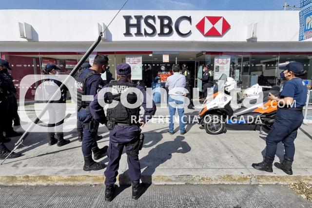 Balean a cuentahabiente a la salida del HSBC de El Carmen