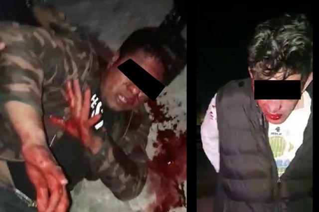 Taxistas retienen y golpean a ladrones en Periférico Ecológico