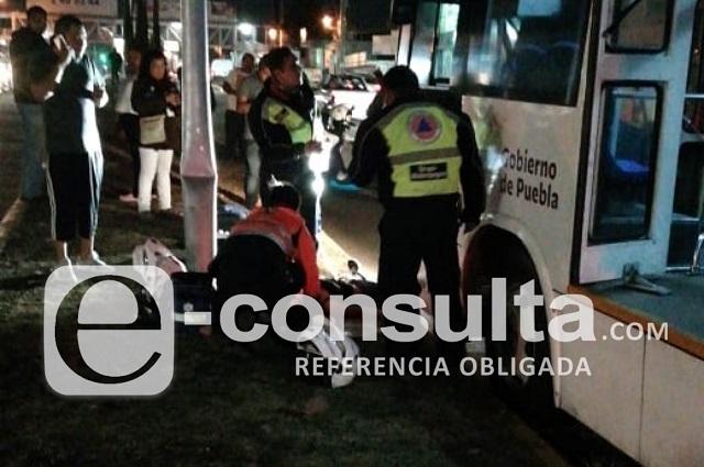RUTA atropella a una joven en Concepción la Cruz, en Cholula