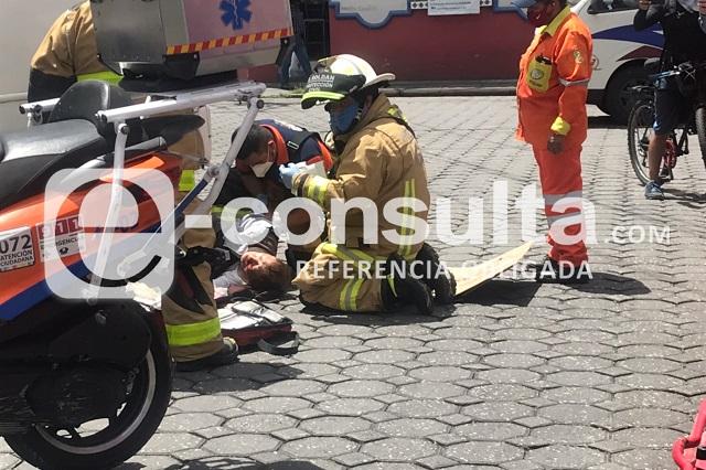 Atropella Ruta M17 a adulto mayor en el centro de Puebla