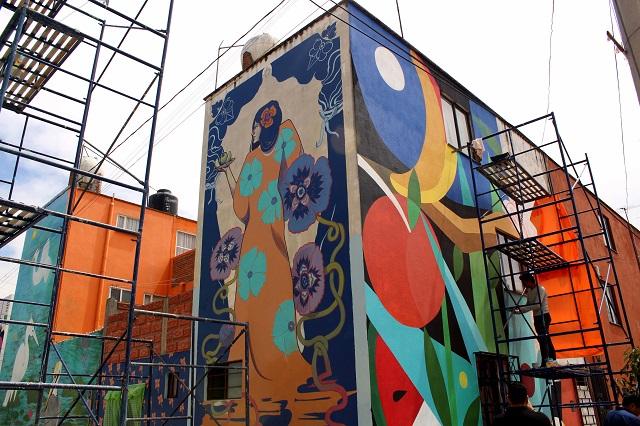 Murales en Puebla favorecen unión de la comunidad: Colectivo Tomate