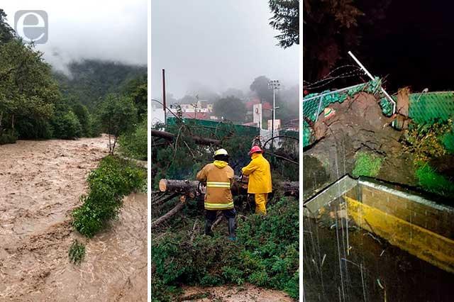 El recuento de los daños por el huracán Grace en Puebla
