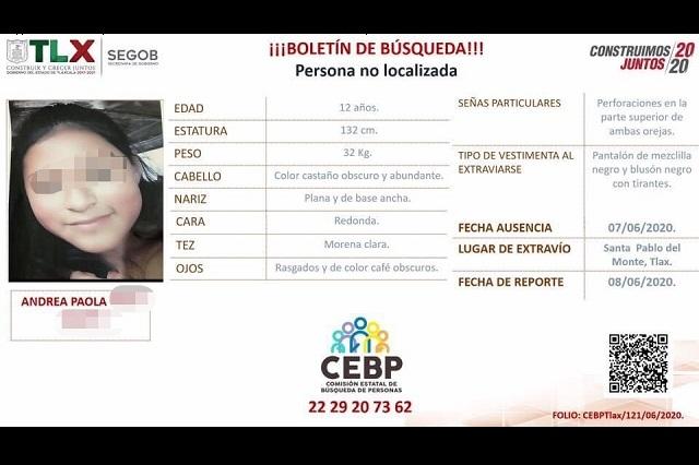 Municipales de Puebla ubican a menor desaparecida en Tlaxcala