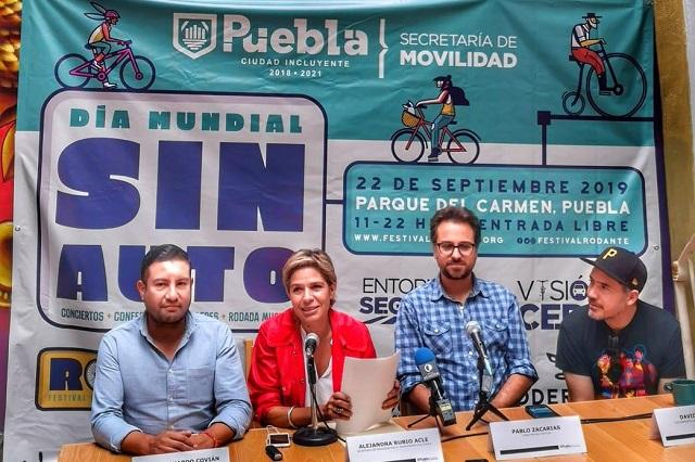 Celebra Puebla capital Día Mundial Sin Auto