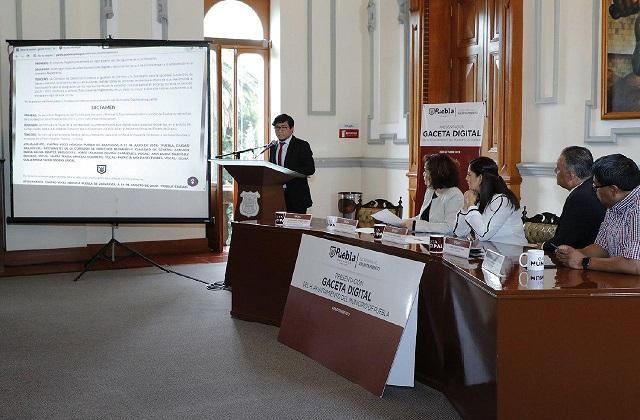 Presentan la Gaceta del ayuntamiento de Puebla en formato digital