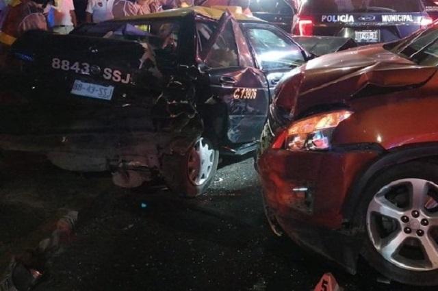 Choques en Puebla dejan 7 heridos; patrullas involucradas