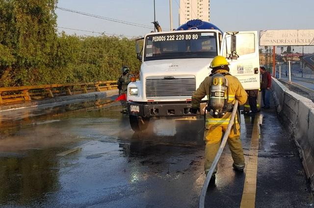 Causa pánico en La Vista fuga de gas de una pipa