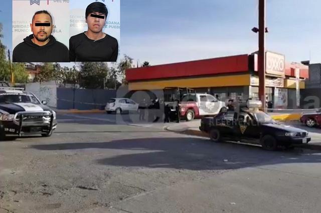 Van presos por asesinar a guardia de Oxxo en Puebla