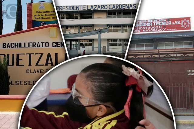 Ya hay covid en 18 escuelas de Puebla tras regreso a clases