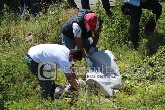 Emplayado y con mensaje dejan cadáver en Tecamachalco