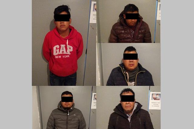 Capturan a nueve delincuentes en posesión de armas, en Texmelucan