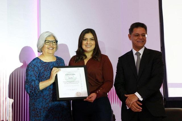 Certifican a Puebla capital por simplificación de trámites