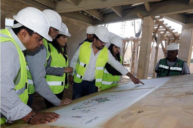 Continúa construcción del Parque Biblioteca Gilberto Bosques Saldívar