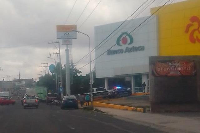 "Cristal ""irrompible"" salva de robo a Elektra en Totimehuacán"