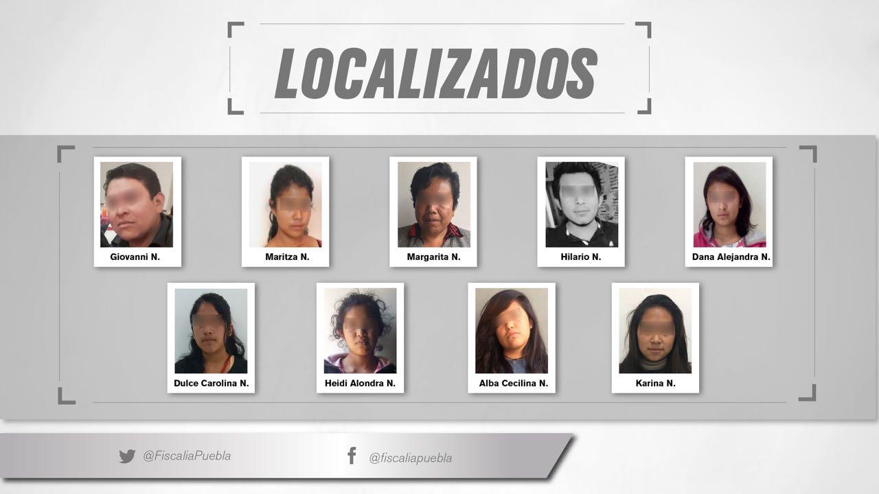 Localizan sin daños a 9 personas reportadas como desaparecidas