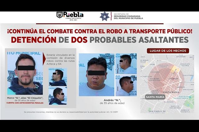 """Relacionados con """"La Loba"""", dos asaltantes bajo proceso"""