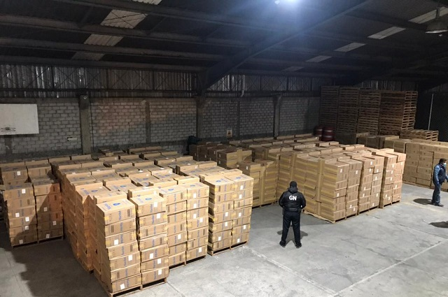 GN decomisa en Amozoc y Xoxtla millones de cigarros
