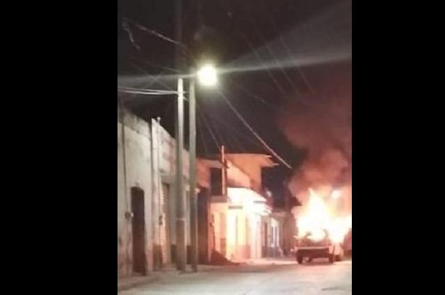 Por inseguridad queman patrulla y vandalizan alcaldía de Aljojuca