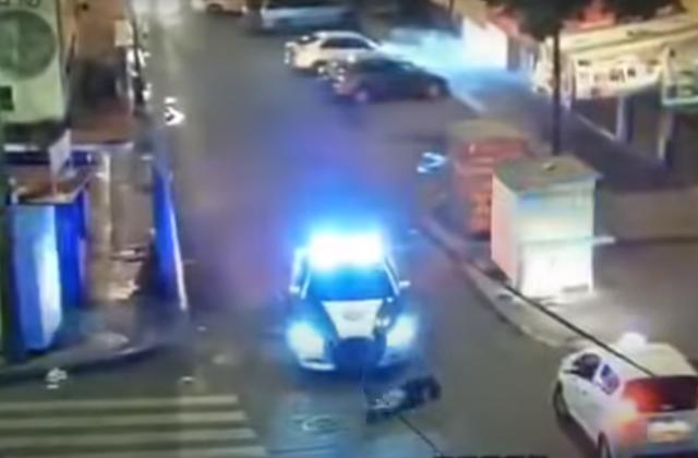 Policía atropella a ladrón: logra detenerlo