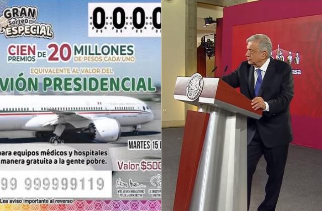 Se han vendido más del 50% de cachitos del avión presidencial