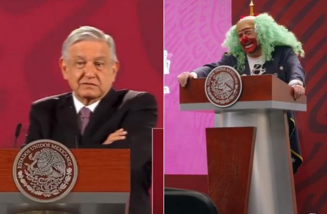 No habrá censura: AMLO tras parodia de Brozo y Loret