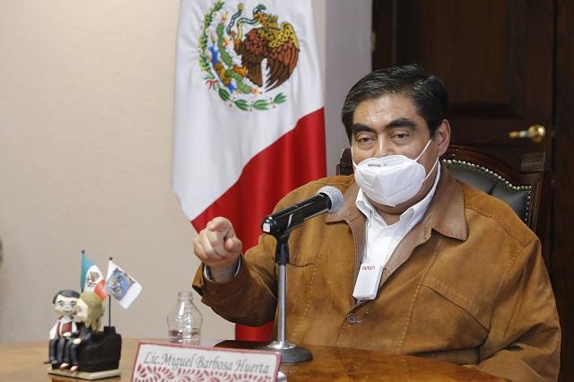 Gobierno de Puebla no tolerará venta de vacunas falsas: Barbosa