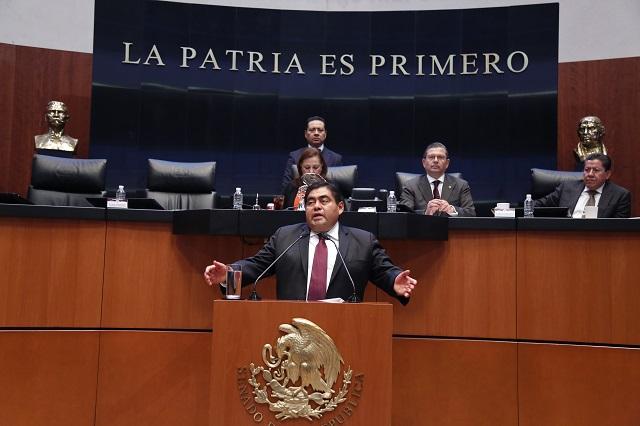 Pide Barbosa al Senado concluir proceso por Santiago Nieto