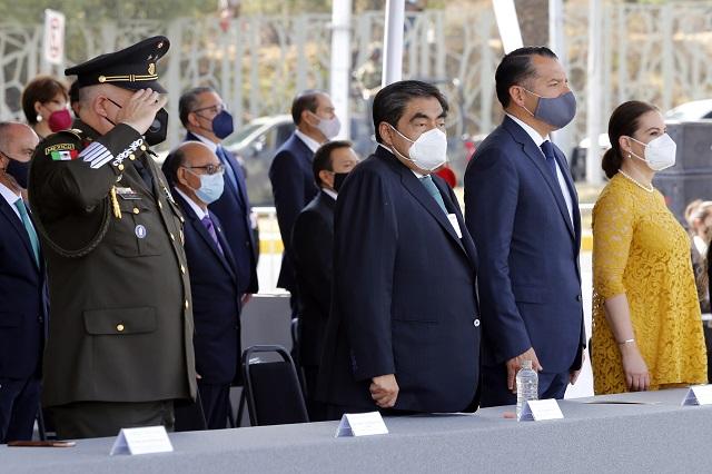 Preside Barbosa ceremonia  del 159 aniversario de la Batalla del 5 de mayo