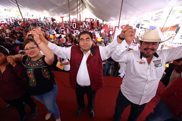 En Puebla habrá cero corrupción, garantiza Barbosa en Tlachichuca