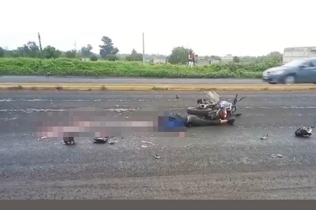 Camión carguero mata a motociclista en Huejotzingo