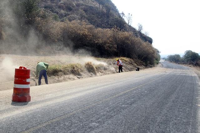 Rehabilitan en Xalitzintla rutas de evacuación del Popo
