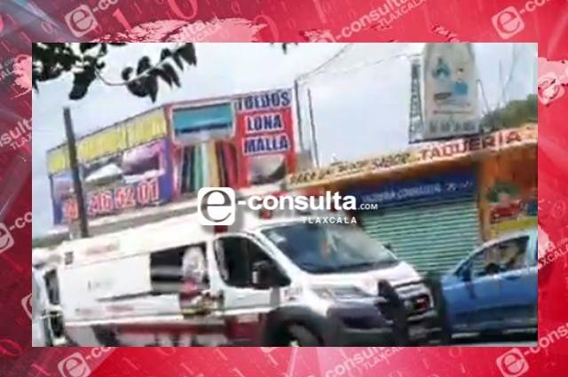 Choca en Tlaxcala ambulancia al trasladar a paciente con Covid