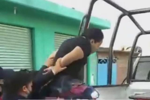 Asalto a papelería desata balacera en Huejotzingo; hay tres detenidos