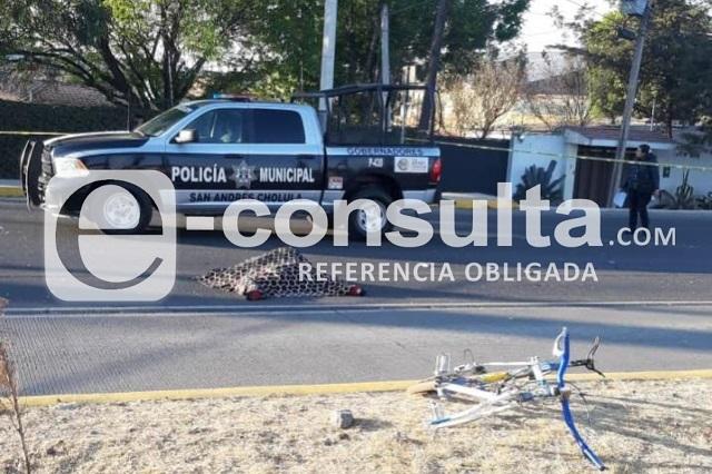 Ciclista muere atropellado frente a terminal de RUTA