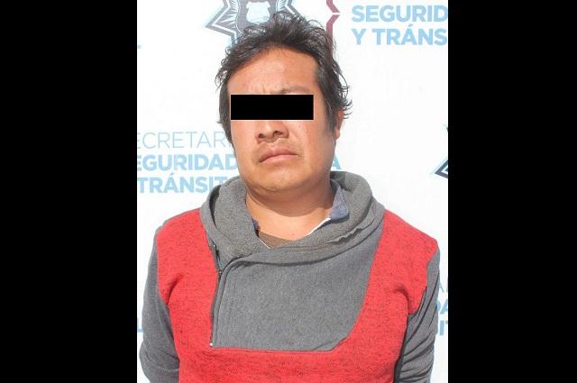 En persecución, Policía Municipal captura a ladrón en Puebla