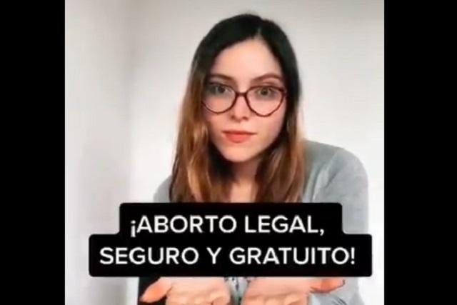 Estefanía Veloz hace video sobre aborto en TikTok y le llueven críticas