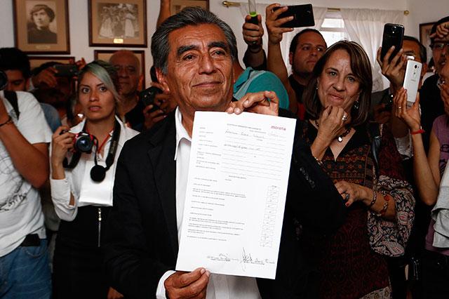Quedó registrado Abraham Quiroz como candidato a gobernador por Morena