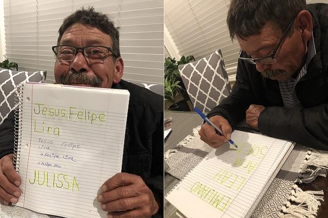 Felipe Lira, el abuelito que aprendió a leer y escribir durante cuarentena