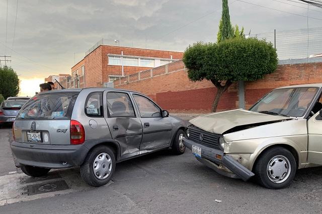 Entre particulares, mayoría de choques en Puebla capital